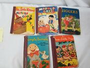 Lot Of 5 Rand Mcnally Books Mother Goose Little Pigs Humpty Jiggers