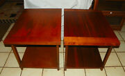 Pair Of Walnut Mid Century End Tables / Side Tables By Lane T283