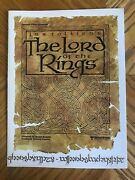 Original Lord Of The Rings Animated Screening Room Guide Glossy Ralph Bakshi