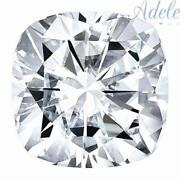 Loose Moissanite 10mm 5.5ct D/e/f Colorless Cushion Shape Certified Usa