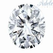 Loose Moissanite 12x10mm 5ct D/e/f Colorless Oval Shape Certified Usa