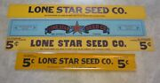 Lot Of 4 Old Vintage 1940and039s Lone Star Seed Advertising Signs Box Labels - Large