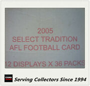 2005 Select Afl Tradition Trading Card Factory Case 12 Boxes-rare