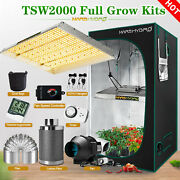 Mars Hydro Led Grow Light Full Spectrum Complete Tent Kits+ Fan + Carbon Filters
