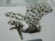 Antique Catholic Rosary Our Lady Of Lourdes Water Relic Religious Medal Aurora