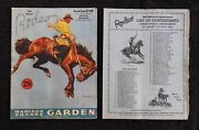 1943 18th Annual Rodeo Program Roy Rogers And Trigger Singing Cowboy With Insert