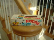 1960 Fleer Gum Football Cards Empty Display Box 5 Cent Decal Ad