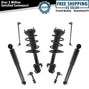 8 Piece Front And Rear Strut And Shock Kit W/ Sway Bar End Links For Toyota Rav4 New