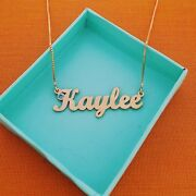 Real Gold Necklace Pure 14k Gold Jewelry Name Personalized Jewellery Any Name
