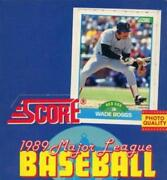 1989 Score Baseball And Motion Cards Pick From List Includes Rookies 498-mm56