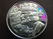 1974 Rex Twice Told Tales Fine Silver High Relief Mardi Gras Doubloon