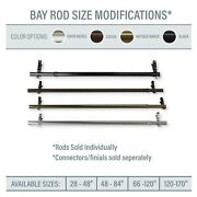Bay Window / Corner Window Single Curtain Rod Choose From 4 Sizes And 4 Colors