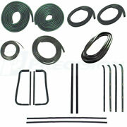 New 19-pc Weatherstripping Seal Kit For 1960-63 Gm Truck W/large Rear Glass