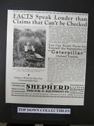 Caterpiller Tractors Owned By Murphy Ranch, Whittier=shephers Equipment Co. 1935