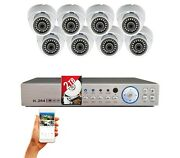 8 Channel Hd H265 Dvr 8x Hd Cctv Security Camera Set No Cable Included W/ 2tb