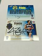 2008 Select Afl Classic Brownlow Signature Redemption Card S2 Jimmy Bartel 27