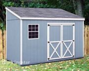 4and039 X 10and039 Slant / Lean To Style Shed Plans / Building Blueprints And Guides E0410