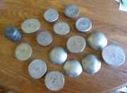 Lot Of 12 Lbs Pewter Antimony Rounds Ingots, 2 Lbs Lead