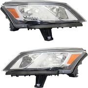 Headlight For 2013-2017 Chevrolet Traverse Pair Driver And Passenger Side Capa