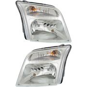 Headlight For 2010-2013 Ford Transit Connect Pair Driver And Passenger Side Capa