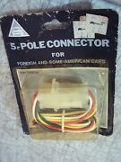 Nos 5 Pole Connector Foreign And Some American Cars Trailers Towing Light Hook Up