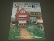 1912 Feb Suburban Life The Countryside Magazine - Great Cover And Ads - Sp 9489
