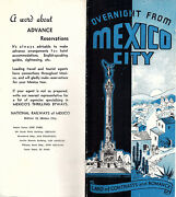 National Railways Of Mexico Vintage Brochure Rail Trips From Mexico City Photos
