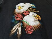 Harley Davidson Cool Vintage 80s Ladies Tee Shirt Double Sided Shop Shirt