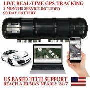 Rgt90a Real Time Battery Powered Gps Tracker Mini Vehicle Hidden Spy Tracking