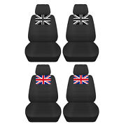 Fits 2005 To 2018 Mini Cooper Charcoal Seat Covers With A Union Jack