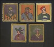 7 1950's Novel Candy And Toy Pirate Series R722-5 Trading Cards