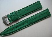 Genuine Tag Heuer Watch Strap Band Green Shark Skin And Steel Buckle New 18 X16 Mm