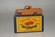 Matchbox Lesney 50a Commer Mkvii Pickup Truck, Brown, Gpw, Excellent, Boxed