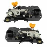 Door Lock Actuator Latch Rear Pair Set Of 2 For 07-09 Cadillac Chevy Gmc Suv New