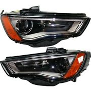 Headlight For 2015-2016 Audi S3 Pair Driver And Passenger Side