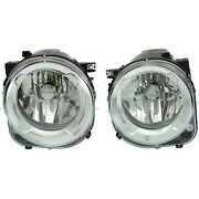 Headlight For 2015-2017 Jeep Renegade Pair Driver And Passenger Side