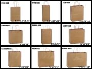 Natural Kraft Shopping Gift Bags 60 Paper Weight Choose Size And Package Amount
