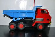 Vintage Bandai Battery Operated Tin Toy Dump Truck