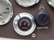 Stick-on Black Thermometer For Car Truck Boat Motorcycle Snowmobile Chrome