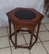 Cherry Mid Century Gothic Plant Stand / Side Table Ps76