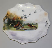 Antique Barn Yard Scene Rs Prussia Open Handled Cake Plate Red Mark Signed 11andprime