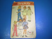 Vintage Sewing Pattern Kit Simplicity 7198 Child's And Girl's Dress Size 6 S7298