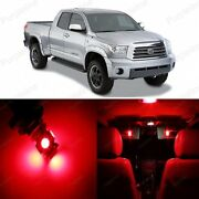 18 X Red Led Interior Lights Package For 2007 - 2018 Toyota Tundra + Pry Tool
