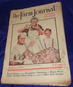 Se572 Vtg The Farm Journal Magazine Jan 1922 Booze Outlaws And The Newspapers