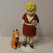Antique Little Orphan Annie Doll And Her Pal Sandy The Dog