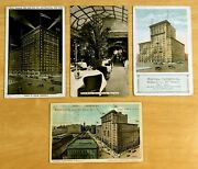 Lot Of 4 Antique Postcards All Hotel Imperial New York City Nyc