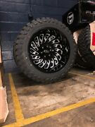 20x12 -51 Cali 9108 Switchback Wheels 33 Mt Tires Package 8x170 Ford F250 F350