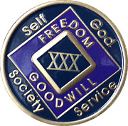 1 - 50 Year Na Medallion Triplate Narcotics Anonymous Black Blue And Purple Chip