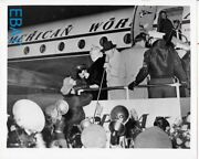 Marilyn Monroe Departs Airliner Candid Rare Photo