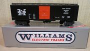 """Williams Trains Freight Car 40' Stock/box Car 50 """"new Haven"""" Black O Scale New"""